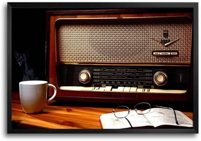 Vintage Radio FP00004643 Framed Photographic Paper - Music