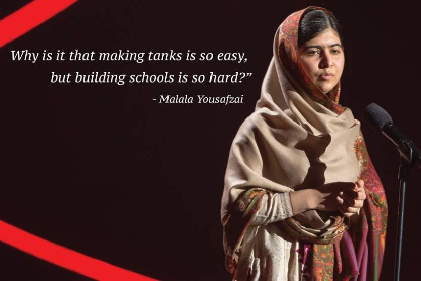 Malala Yousafzai Quotes On Education Paper Poster 12x18 With 4