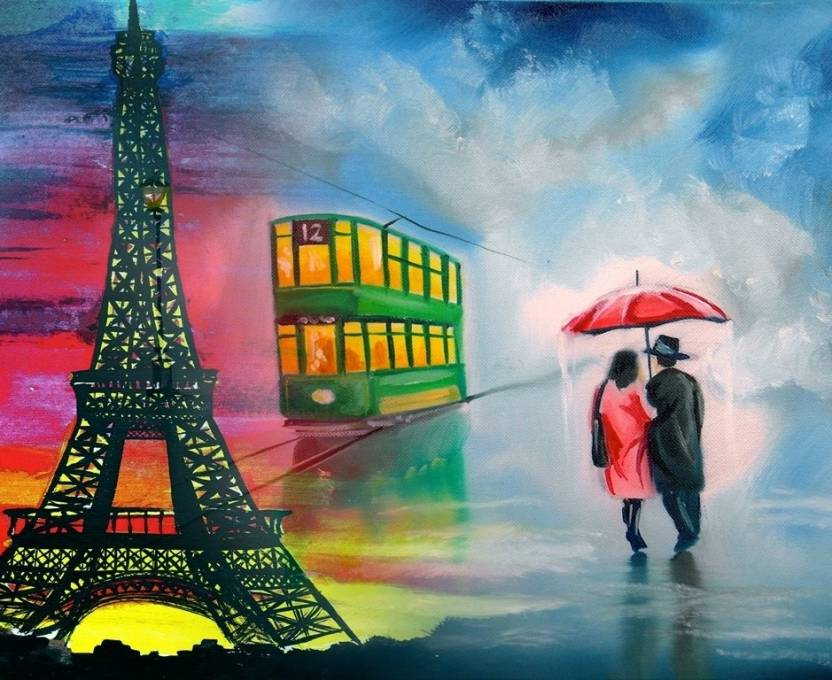 Canvas Painting Without Frame Couples Canvas Art