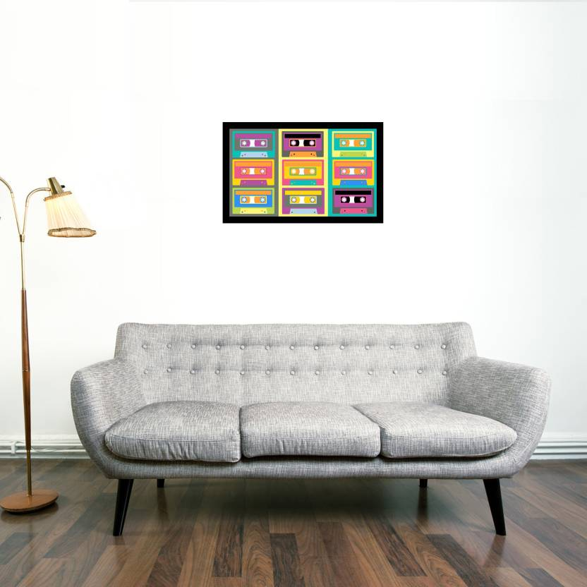 Cassette Framed Wall art With glass Photographic Paper - Decorative ...