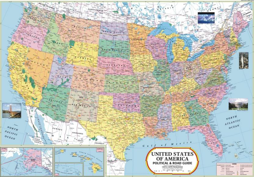 Usa map paper print maps posters in india buy art film design usa map paper print gumiabroncs Image collections