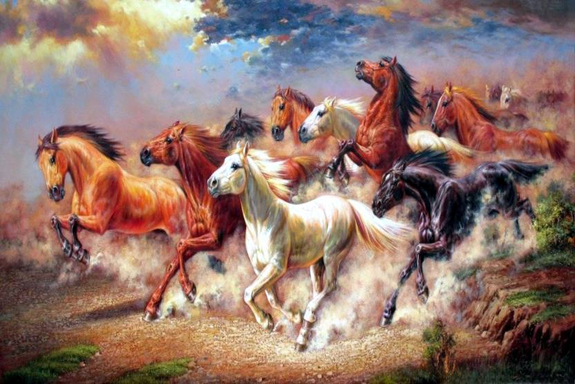 athah poster wall running horses paper print abstract posters in