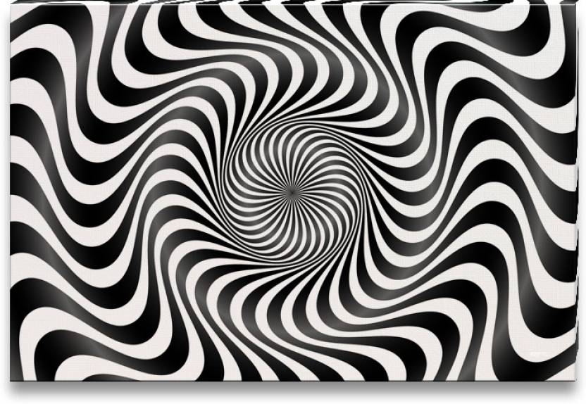 Black white pattern of optical illusion canvas art