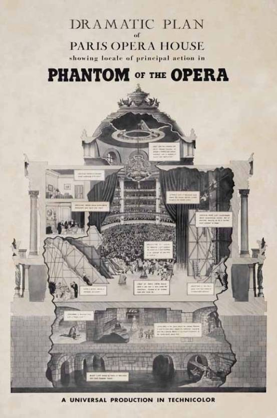 Phantom of the Opera - 1943 Paper Print - Movies posters in