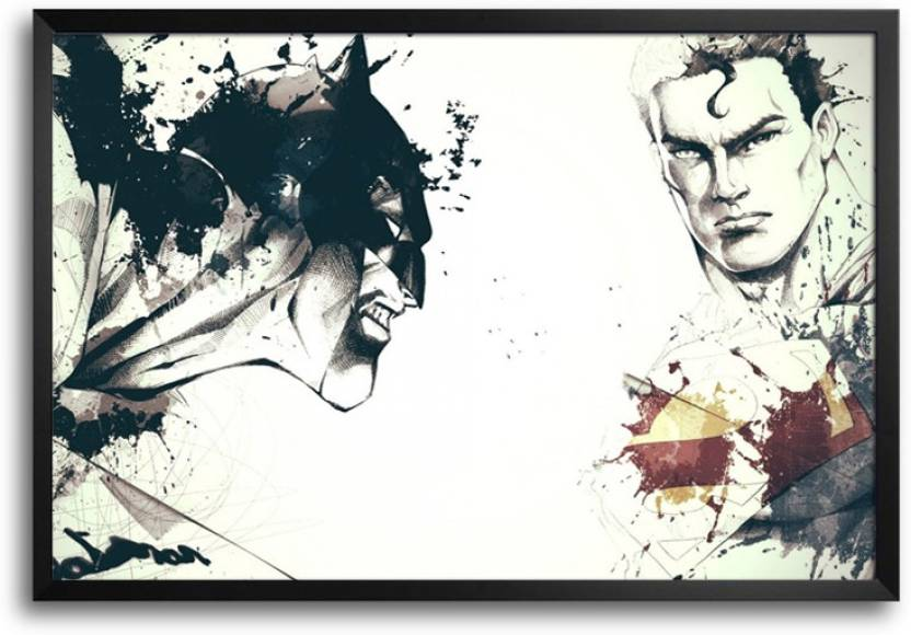 ShopMantra Batman Vs Superman Artwork Laminated Frame Poster Paper ...