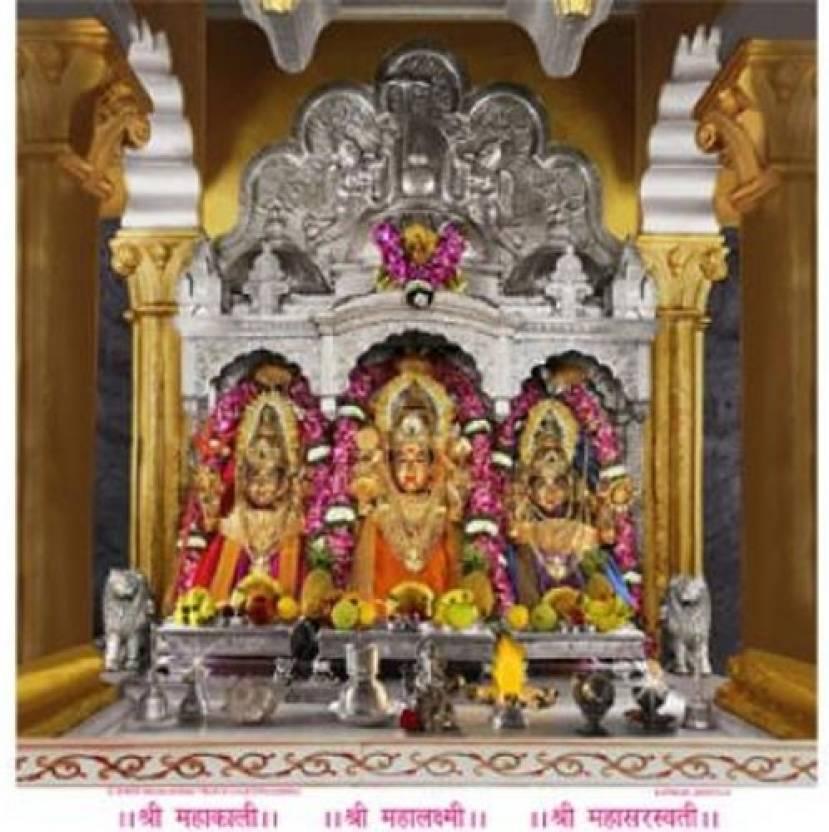 3D Photo Kali Laxmi Saraswati 3D Poster - Religious posters in India