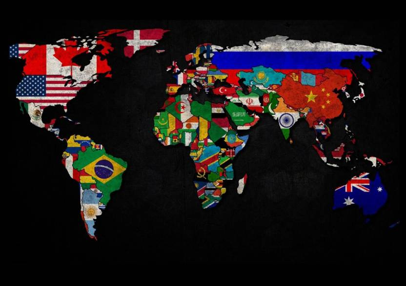 World political map 170 fine art print maps posters in india buy world political map 170 fine art print gumiabroncs Image collections