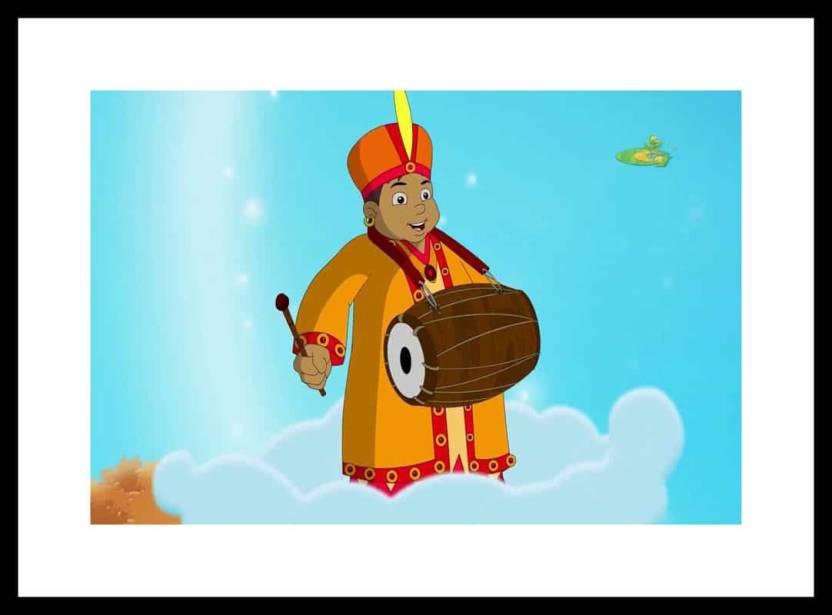 myimage kalia of chota bheem cartoon digital printing framed poster
