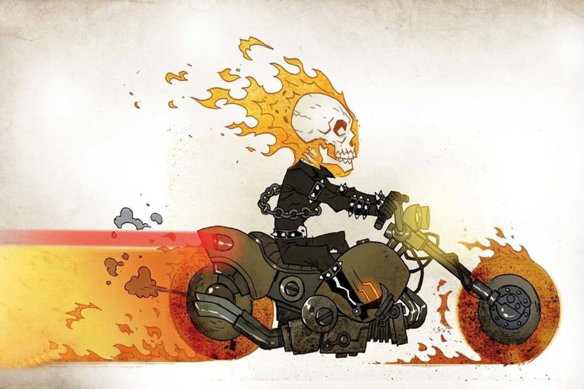 Poster of The Ghost rider Animation Paper Print - Animation