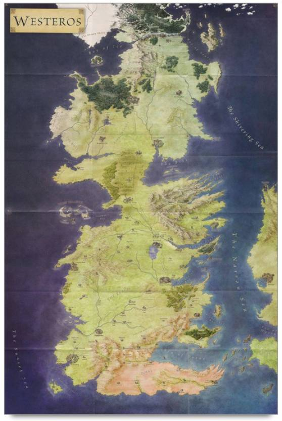 Amy westros map 3d poster maps posters in india buy art film amy westros map 3d poster gumiabroncs Image collections