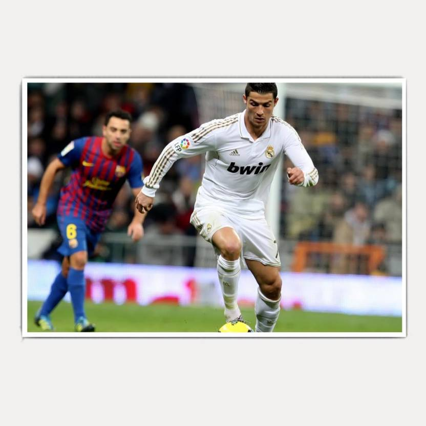 premium selection 6861c 491fc Real Madrid Player Cristiano Ronaldo (18x12) Paper Print ...