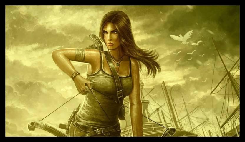 EurekaDesigns Poster Tomb Raider Video Game Laminated Paper Print