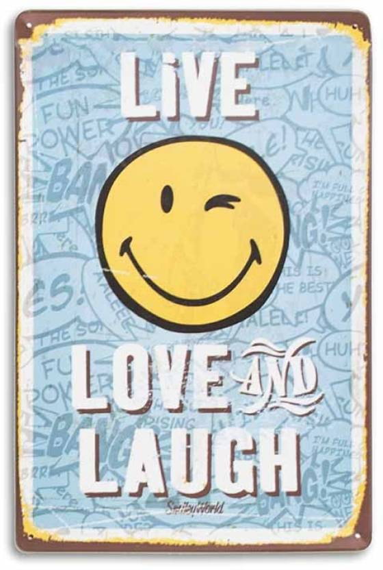 Live Love Laugh Metal Plate Poster Galvanised Iron With Printed