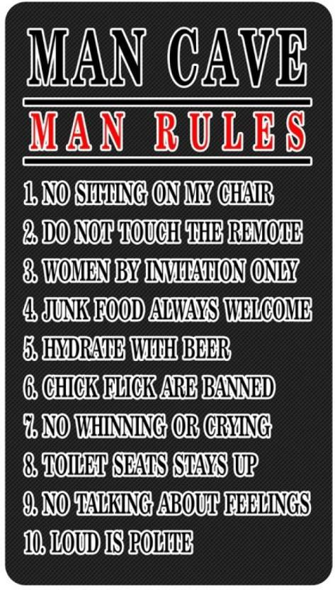 Athah Poster Man Cave Man Rules Paper Print, Rolled Paper