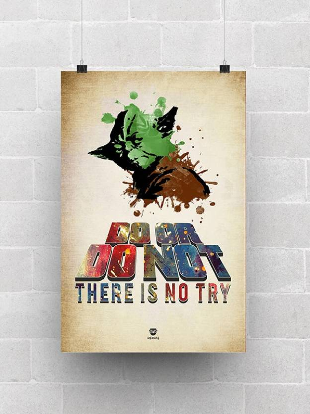 Star Wars Yoda Do Or Do Not Paper Print Utpatang Posters