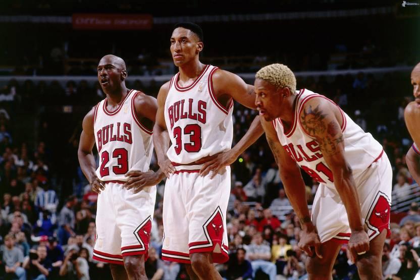separation shoes 8c0f5 8ddd6 Sports Chicago Bulls Basketball Dennis Rodman Michael Jordan ...