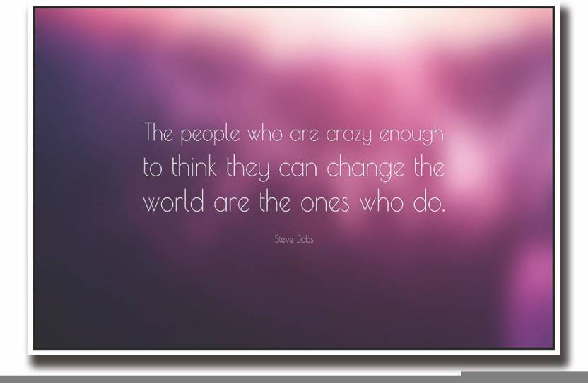 Posterhouzz Steve jobs crazy people quote in pink Fine Art ...