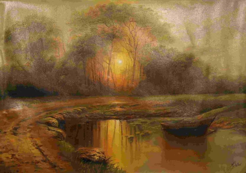 Painting without Frame Scenery-22 (34X22) Canvas Art - Nature ...
