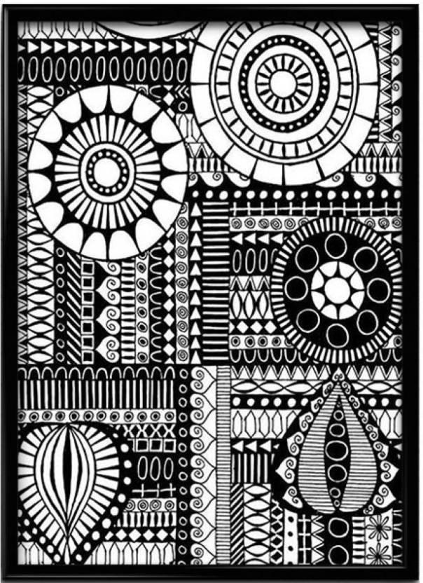 Indian Handmade Doodle Art Paper Print - Minimal Art, Humor ...