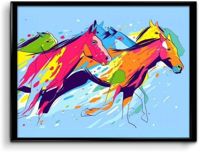 Artistic Horses Paper Print Personalities Tv Series Posters In