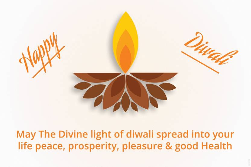 Poster May The Divine Light Of Diwali Spread Into Your Life Peace