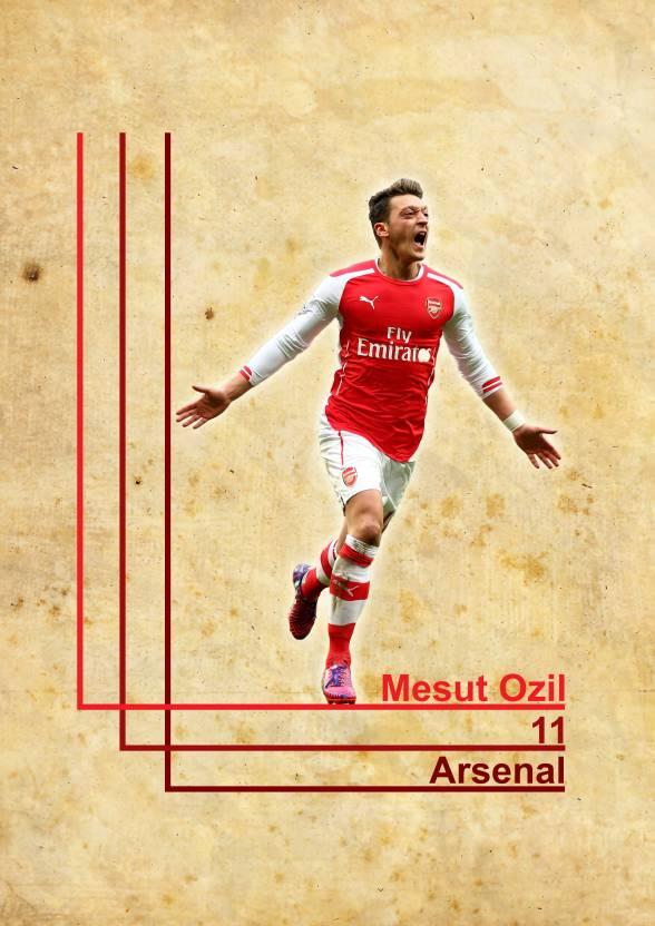 new arrival c5292 9c9a7 Mesut Ozil, Arsenal,11 poster Paper Print