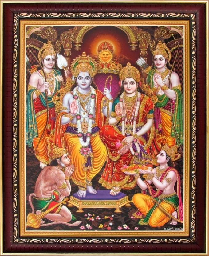 Lord Rama Shree Ram Darbar Poster Paper Print