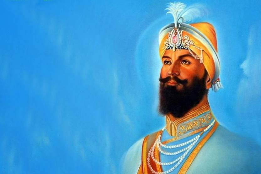 Shri Guru Gobind Singh Ji Dasham Sikh Guru Poster Paper Print