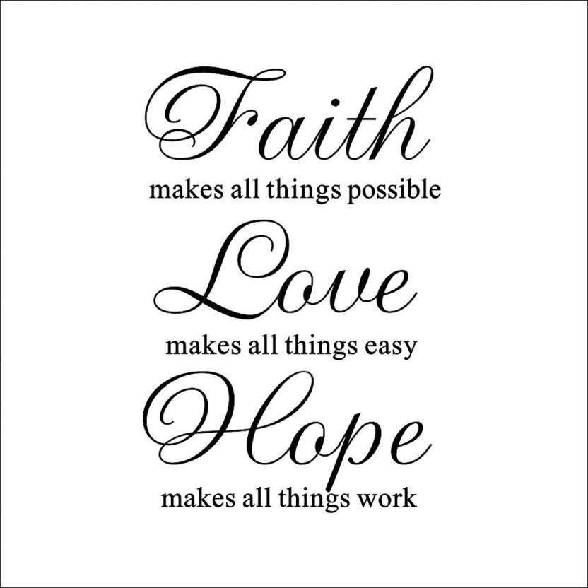Faith Love Hope Paper Print