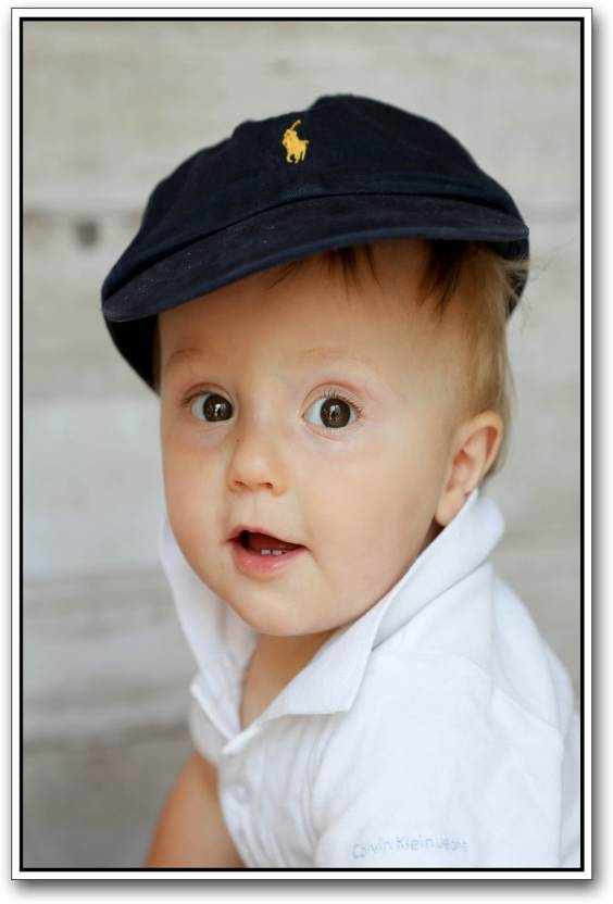 Cute baby boy with hat Paper Print - Children posters in India - Buy ... 7adc40e37de