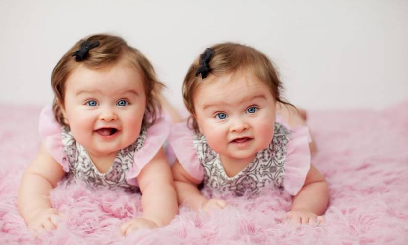 twin babies a3 hd poster art shi141 photographic paper children