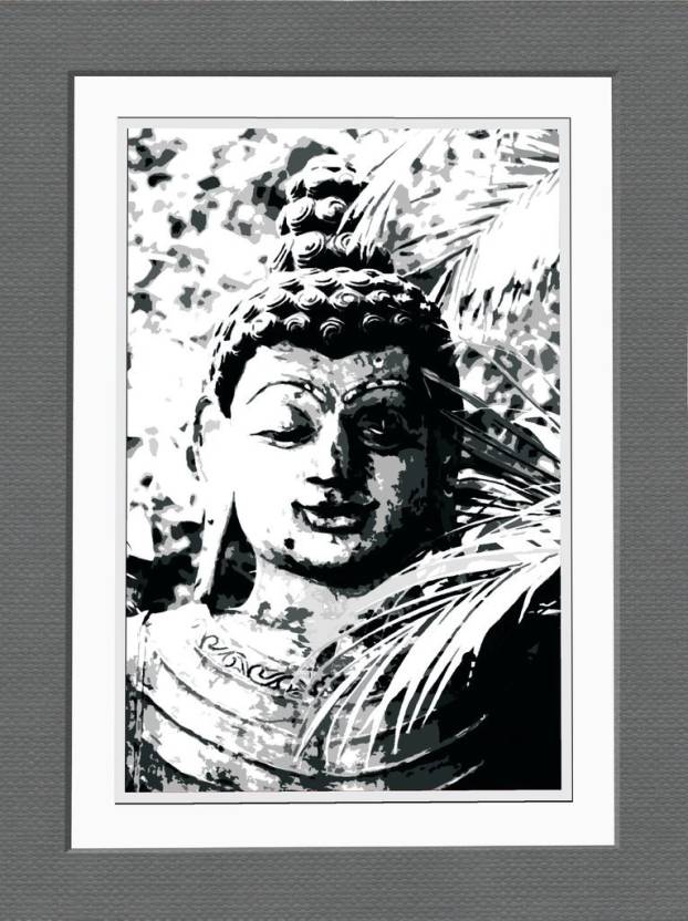 BUDDHA - FRAMED POSTER Paper Print - Abstract posters in India - Buy ...