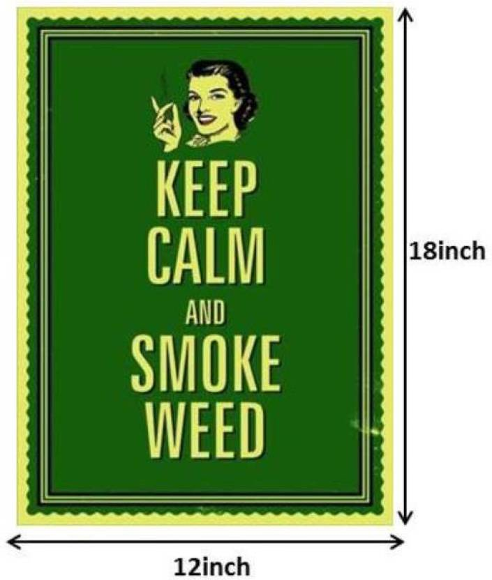 Seven Rays Keep Calm And Smoke Weed Paper Print Small