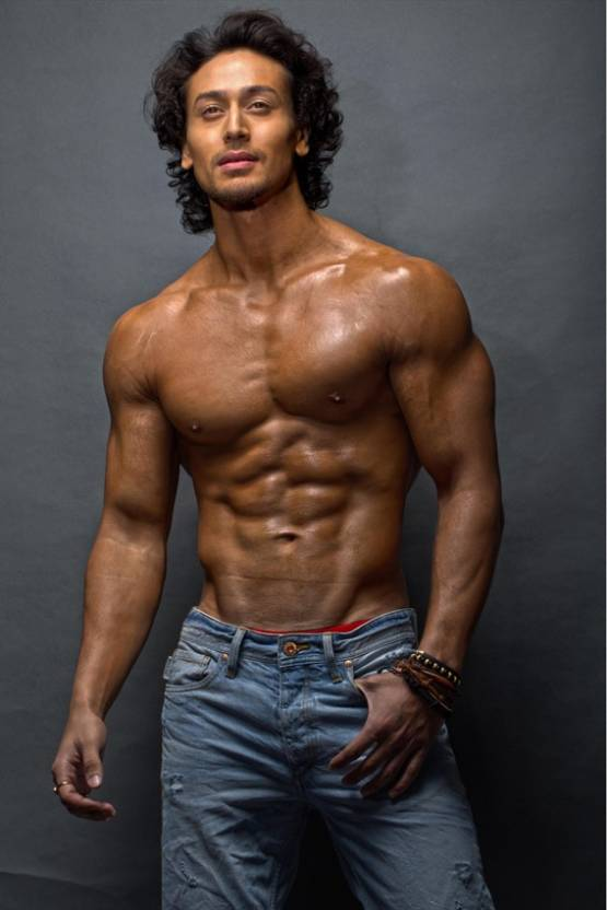 Wall1ders Tiger Shroff Body Paper Print Movies Posters