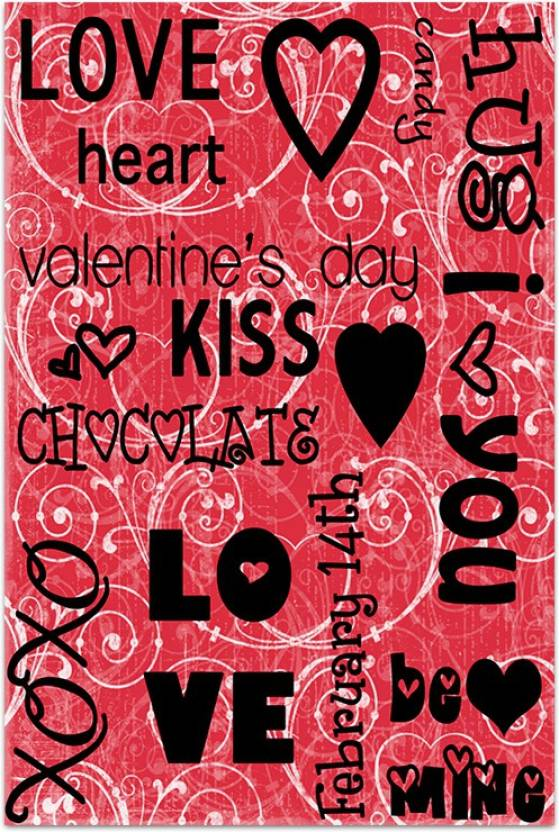 reputable site bfeb5 e67dd Love Valentine Doodle Paper Print (36 inch X 24 inch, Rolled)