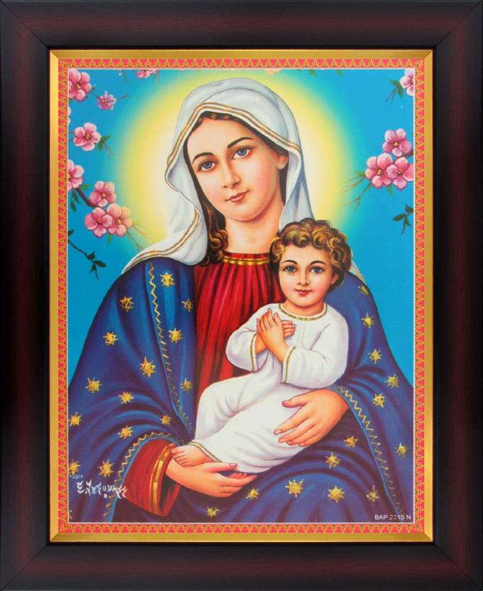 d46b992958e0b Virgin Mary with the Child Jesus Poster Paper Print - Art ...