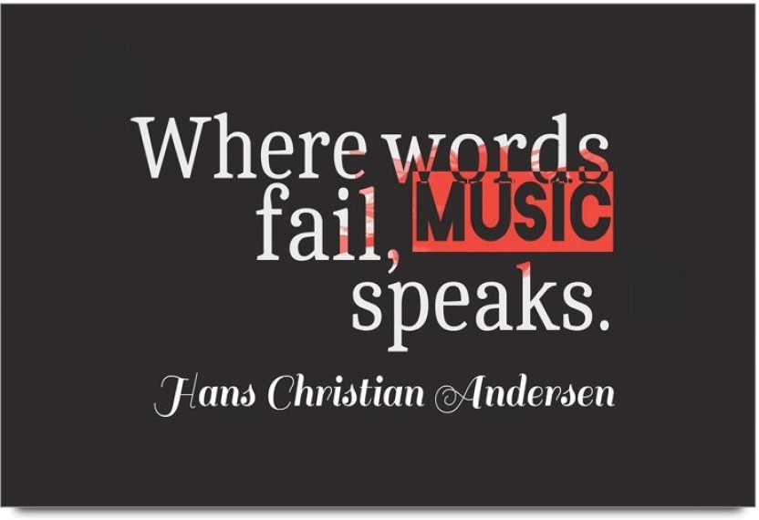 imerch words fail music speaks quotes by hans christian andersen