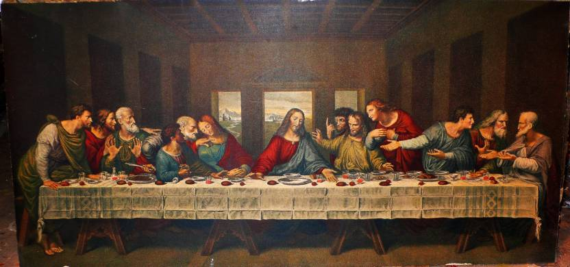 Framed Last Supper By Leonardo Da Vinci Fine Art Print Art