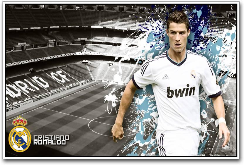 super popular bbd1b c04e9 Cristiano Ronaldo football player Paper Print - Sports ...