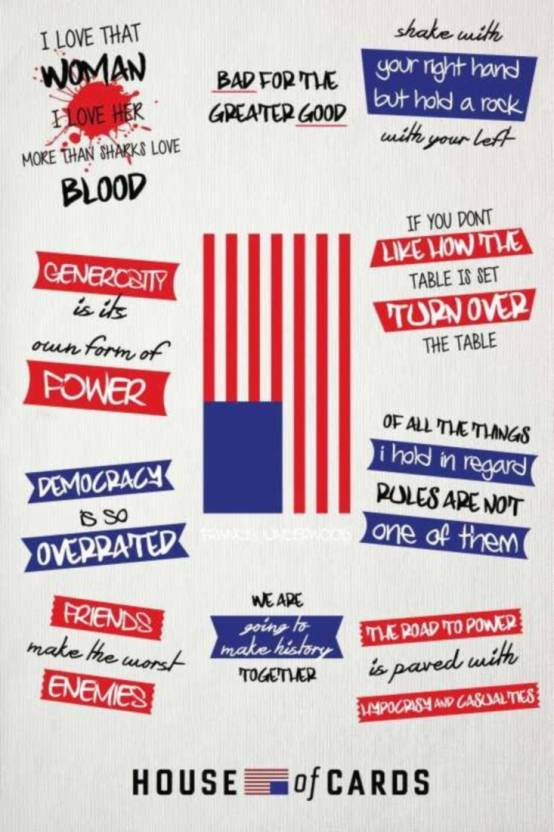 Athah Poster House Of Cards Quotes Artwork Rolled Paper Print
