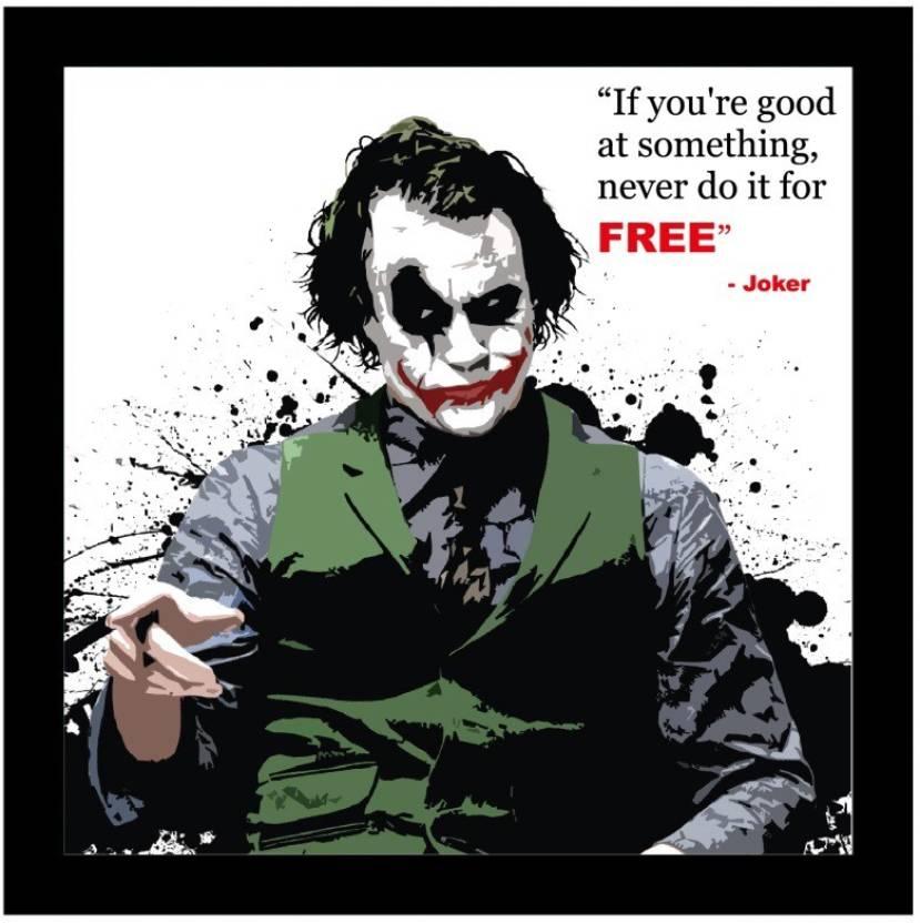 Invezo Impression Joker Wooden Framed Poster Paper Print Joker