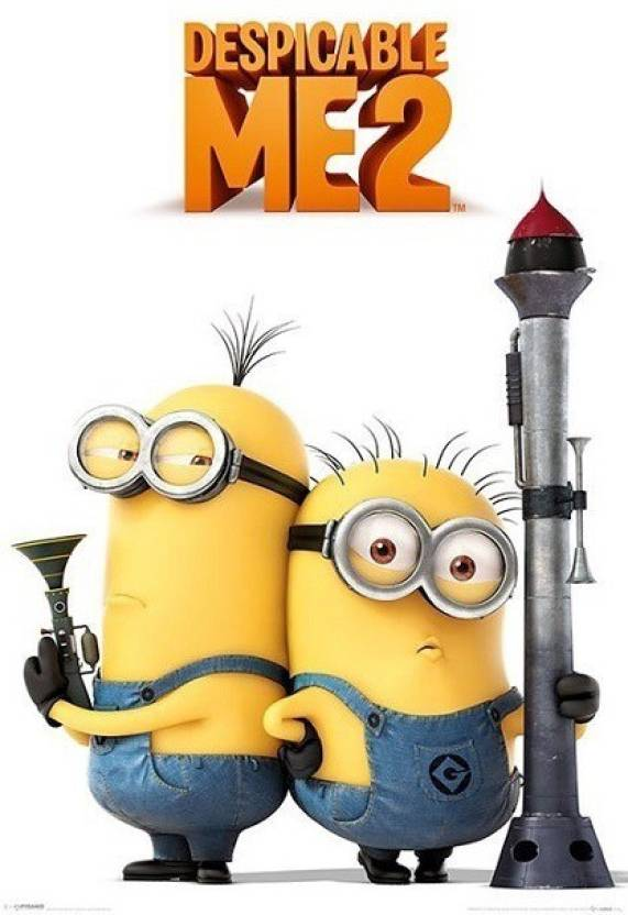 despicable me 2 armed minions paper print