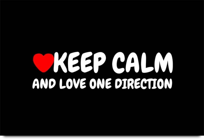 Keep Calm and Love One Direction Paper Print - Quotes ...