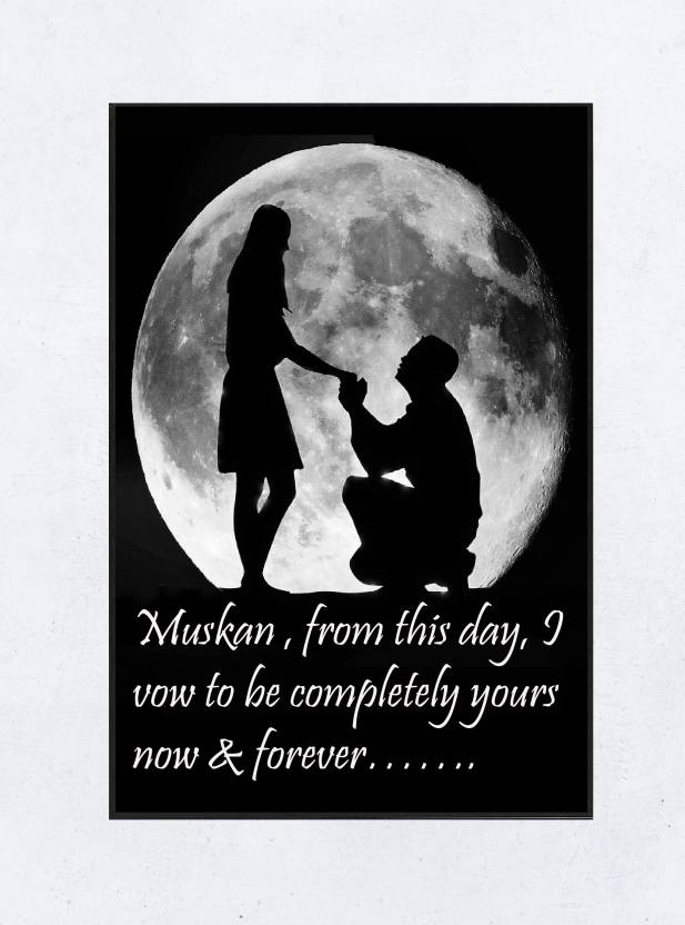 Muskan romantic love quotes framed poster 006 paper print
