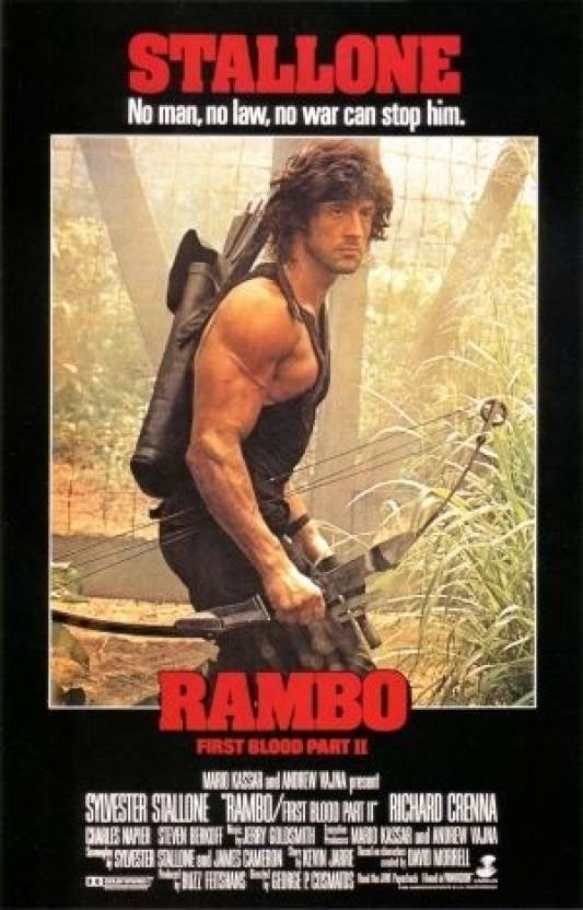 Rambo - First Blood Part II Paper Print - Movies posters in