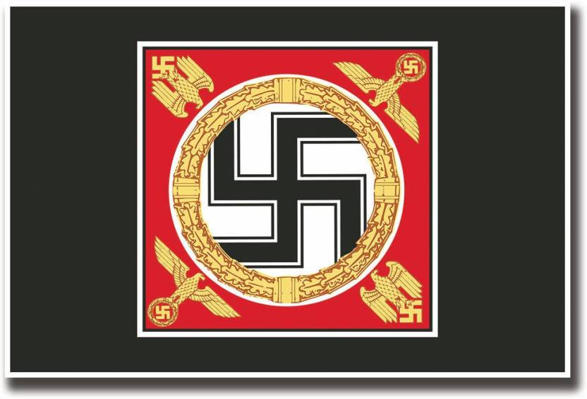 Nazi Symbol Of Swastika Fine Art Print Abstract Posters In India