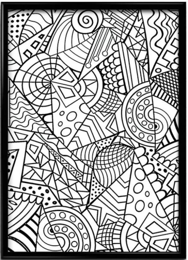 Indian Handmade Doodle Art Paper Print - Music, Floral & Botanical ...