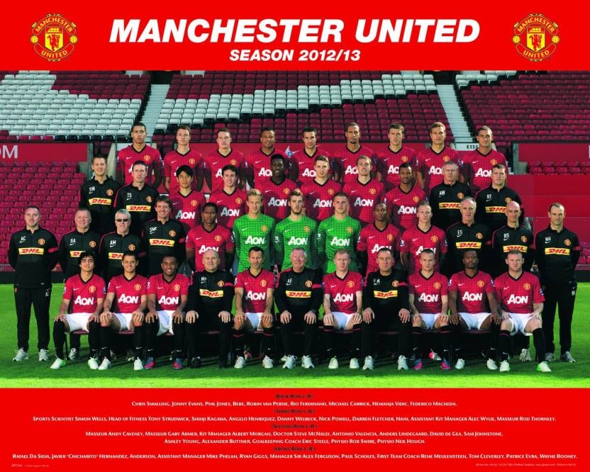 buy popular 75416 7fed6 Manchester United Fine Art Print - Abstract posters in India ...