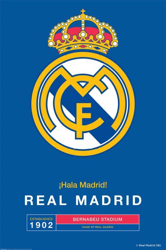real madrid c f large poster crest 33 paper print sports posters