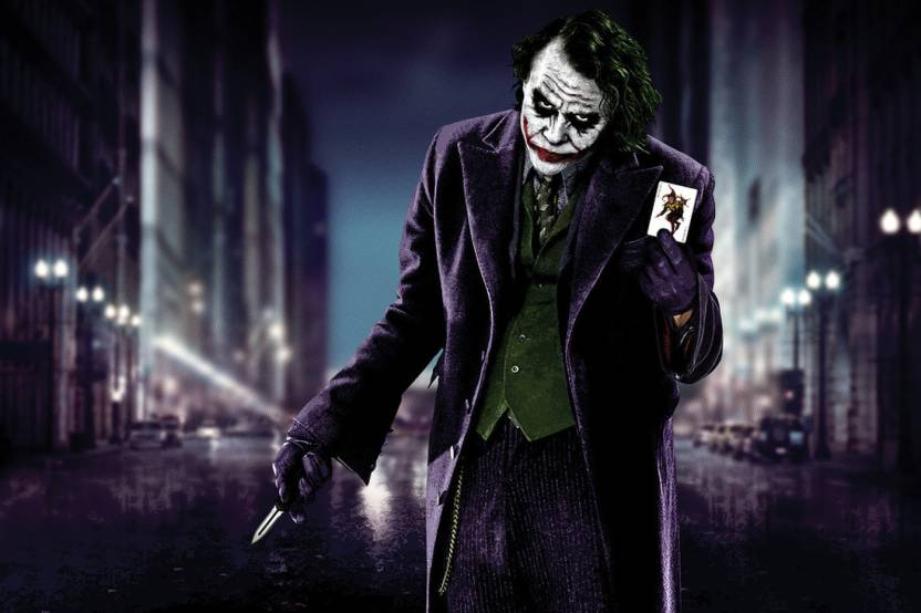 Halloween Joker Card.Amore Joker With Card Poster Photographic Paper Movies Posters In